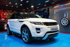 White Range Rover Royalty Free Stock Image