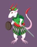 White rat soldier Stock Photo