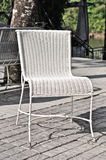 White rattan chair Royalty Free Stock Image
