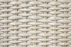 White rattan woven pattern, close-up of textured background royalty free stock photos