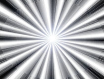 White ray of light. White  ray of light over black background Royalty Free Stock Photo