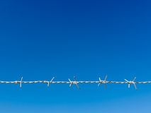 White Razor Wire blue sky Royalty Free Stock Photo