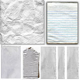 White Real Paper Items Set Royalty Free Stock Photo