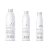 White Realistic Cosmetics bottle set Stock Photography