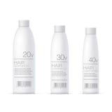 White Realistic Cosmetics bottle set Stock Photography