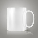 White realistic cup Stock Photography