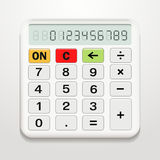 White realistic electronic calculator Stock Photography