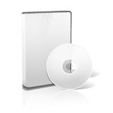 White realistic isolated DVD, CD, Blue-Ray case Stock Images