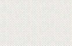 White realistic knit texture vector seamless pattern Royalty Free Stock Images