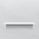White realistic shelf against brick wall Royalty Free Stock Image