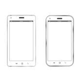 White realistic smartphones Stock Photos