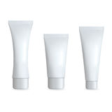 White Realistic Tube For Cream. Cosmetic Template Set. Isolated Vector illustration. Royalty Free Stock Image