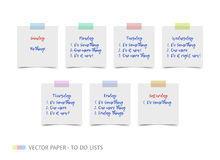 White realistic vector sticky notes with shadow Royalty Free Stock Photo