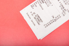 White receipt Stock Images