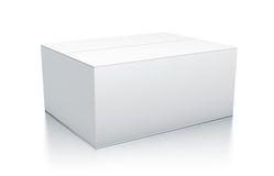 White rectangle box from close up left view. Stock Photos