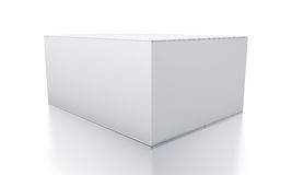 White rectangle box from close up right view. Royalty Free Stock Image