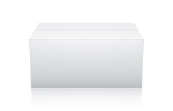 White rectangle box from front view. Stock Photography