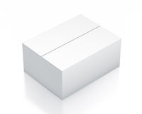 White rectangle box from isometric left view. Royalty Free Stock Images