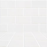 White rectangle bricks background and white mosaic floor Royalty Free Stock Photos