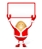 White rectangle for Christmas advertising Stock Photography