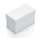 White rectangle gift box from isometric left view. Royalty Free Stock Images