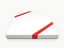 White Rectangle Gift Box Royalty Free Stock Photo