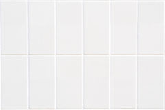 White rectangle mosaic with vertical structure. Background closeup of white rectangle mosaic in rectangle format with vertical structure, 2x6 Royalty Free Stock Image