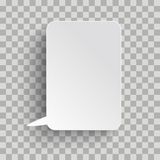 White Rectangle Oblong Speech Bubble Transparent. Rectangle speech bubble on the checked background royalty free illustration