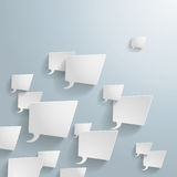 White Rectangle Speech Bubbles Stock Photography