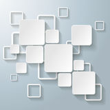 White Rectangle Squares. Infographic design with white rectangle squares on the grey background. Eps 10  file Royalty Free Stock Images