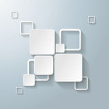 White Rectangle Squares 2 Options. Infographic design with white rectangle squares on the grey background. Eps 10  file Royalty Free Stock Photos