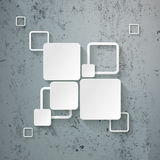 White Rectangle Squares Template Design Concrete Royalty Free Stock Photography