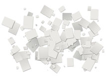 White rectangles background Royalty Free Stock Photo