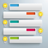 White Rectangles Colored Holes 5 Bulbs royalty free illustration