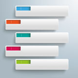 White Rectangles Colored Holes 5 Options Royalty Free Stock Photography