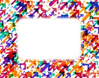 White background with colorful arrows. White rectangular background with colorful arrows pattern. Vector paper illustration Royalty Free Stock Photo