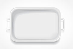 White rectangular fiberglass steam table Stock Photo