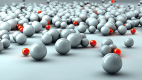 White and red 3D spheres Royalty Free Stock Photo