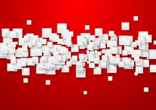 White and red abstract tech background Stock Photography