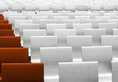 White and red auditorium seats Stock Photos