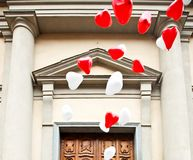 White and red ballons. Stock Image