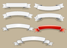 White and red banners. Set of white and red banners Royalty Free Stock Images