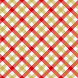 White red beige check plaid fabric texture seamless pattern. Vector illustration. EPS 10 Royalty Free Stock Photos