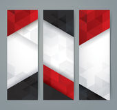 White, red and black abstract background banner. Collection banner design royalty free illustration