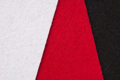 White, red and black felt texture for background Stock Image