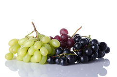 White, red and black grapes Royalty Free Stock Images