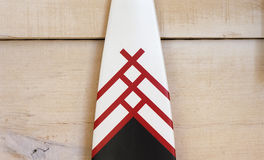 White Red and Black Wooden Plank Royalty Free Stock Photo