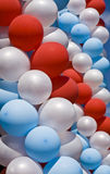 White, red and blue air balloons Stock Photography