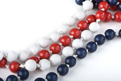 White red and blue  chaplet Royalty Free Stock Image