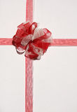 White and red bow Royalty Free Stock Images